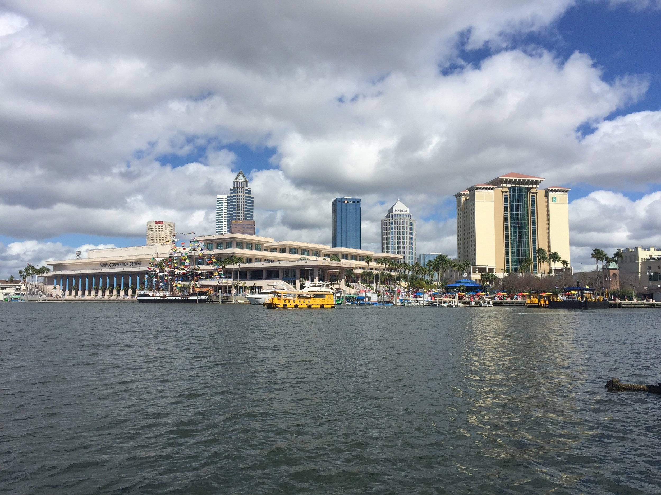 Exploring downtown Tampa!