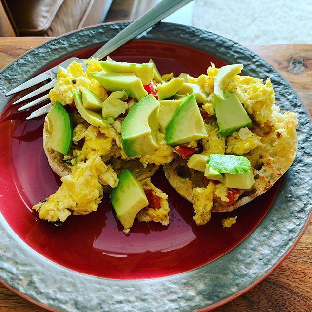 🍳 Breakfast ❤️ 🥑 #breakfastofchampions #yum #fitness #runner #foodforfuel #foodforrecovery #