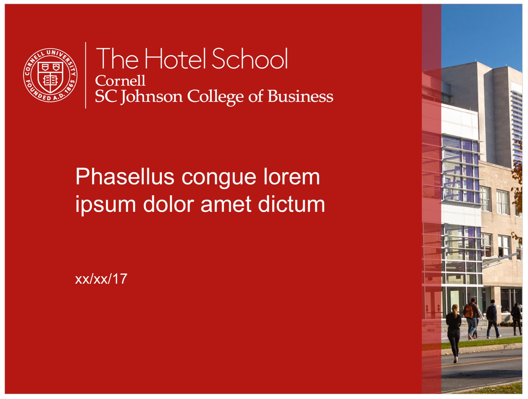 The Hotel School Red PPT
