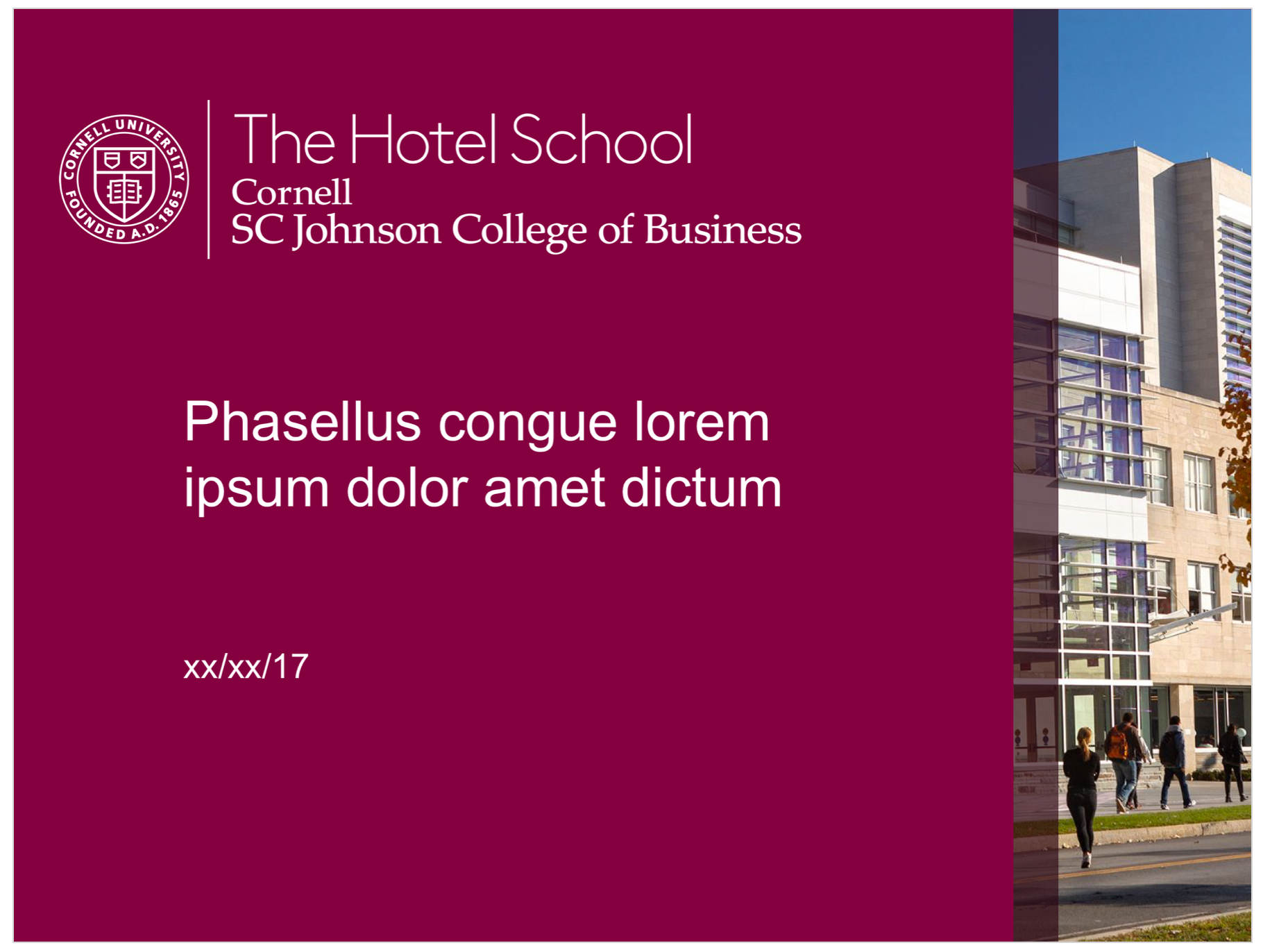 The Hotel School Accent PPT
