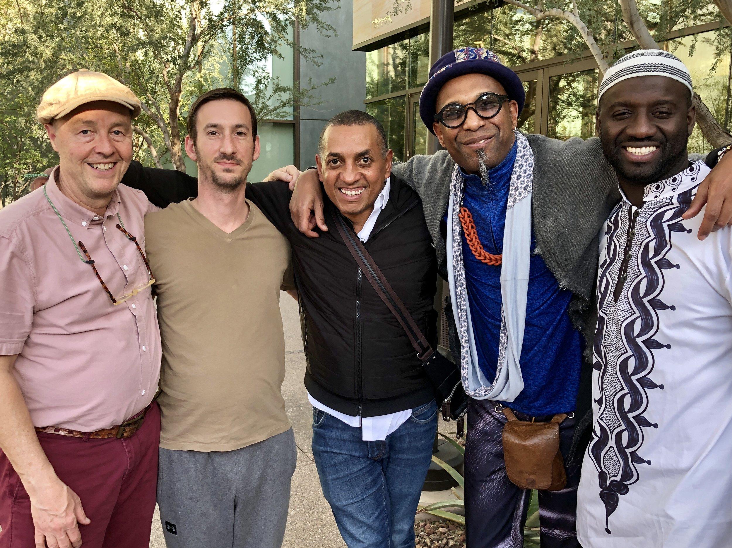 Scott Price (manager of Omar), Tyler, Gustavo, Omar, Seckou