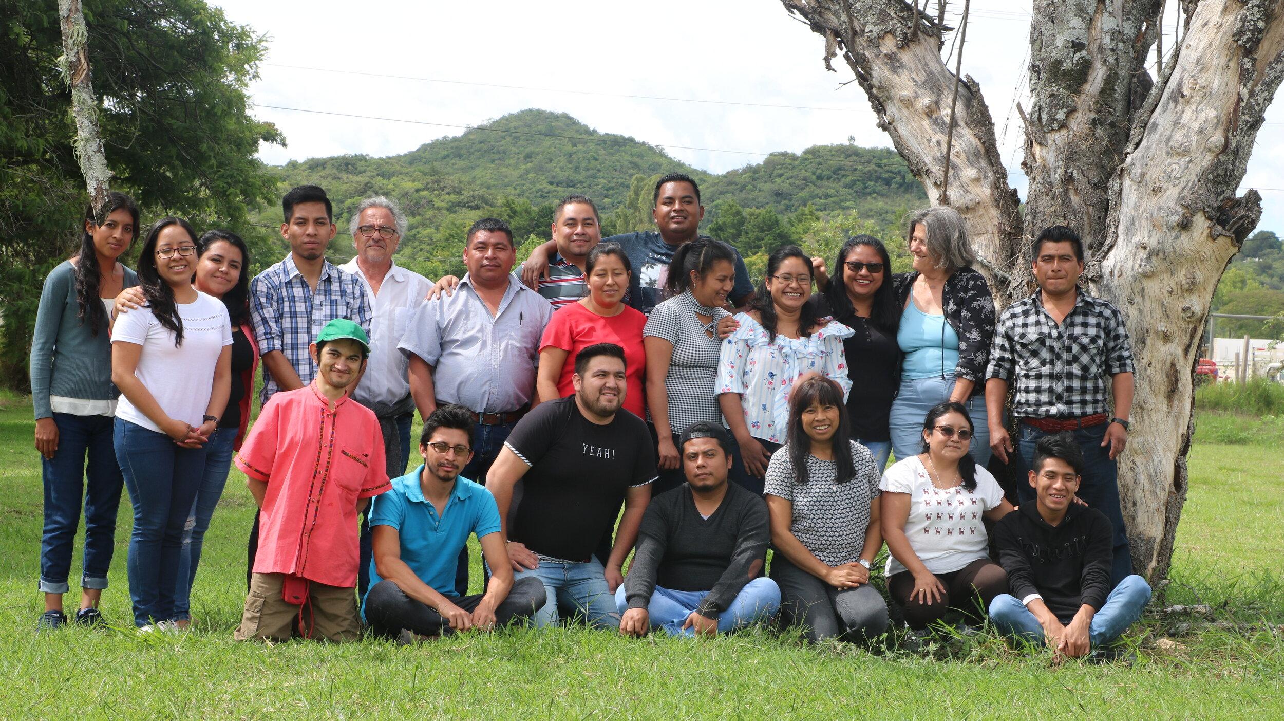 Equipo de Ch'ieltik-Escuela de Verano 2019. Las Margaritas, Chiapas.