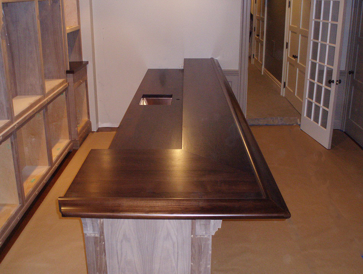 Two-Tier Walnut Bar Top