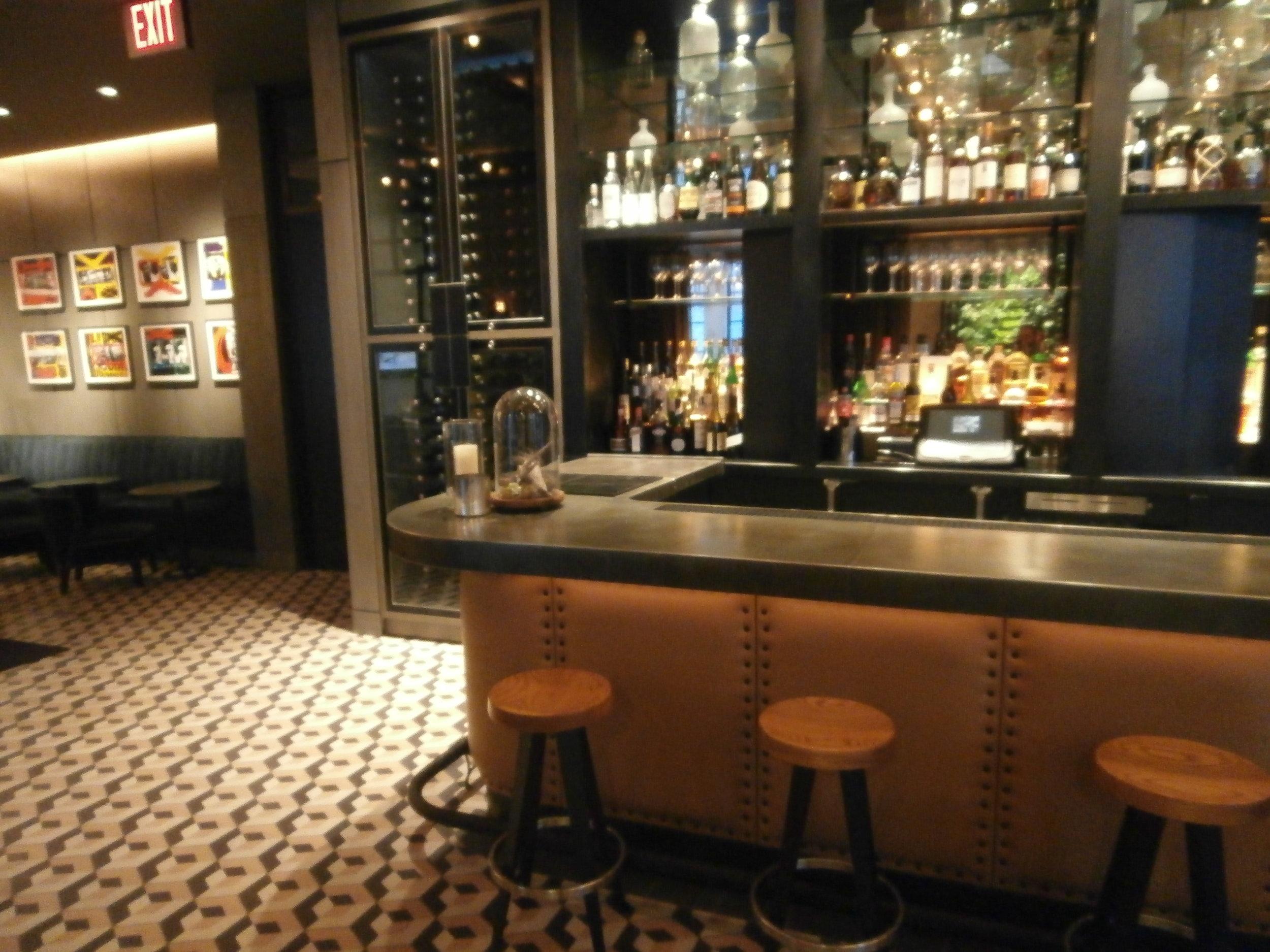 Zinc Bar Top for Lounge