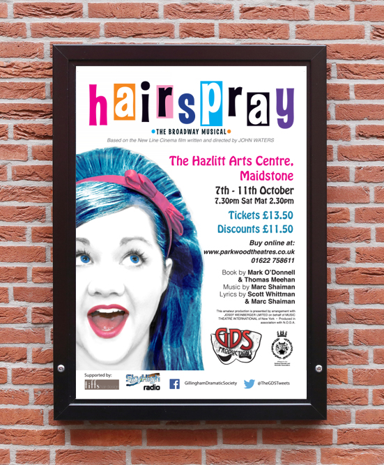 Hairspray poster - photography & design