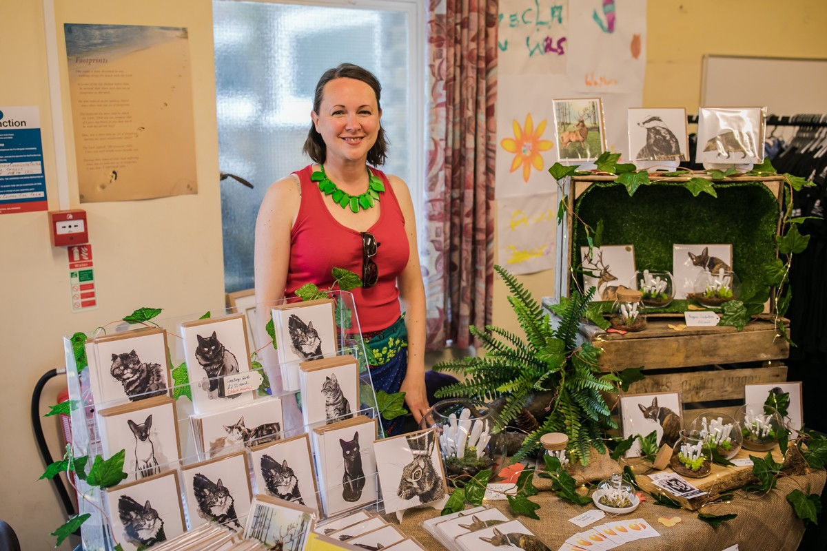 Me on my stall at Maidstone Vegan Festival