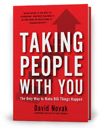 - Business: Taking People With You CEO David Novak shares ways on how to make big shifts in life as a leader, by taking people with you.His step by step guide helps you to set big goals, practice authenticity with your team, look for good ideas and how to think big while getting rid of negative energy. No matter your position, this book will help change the way you think about your leadership!