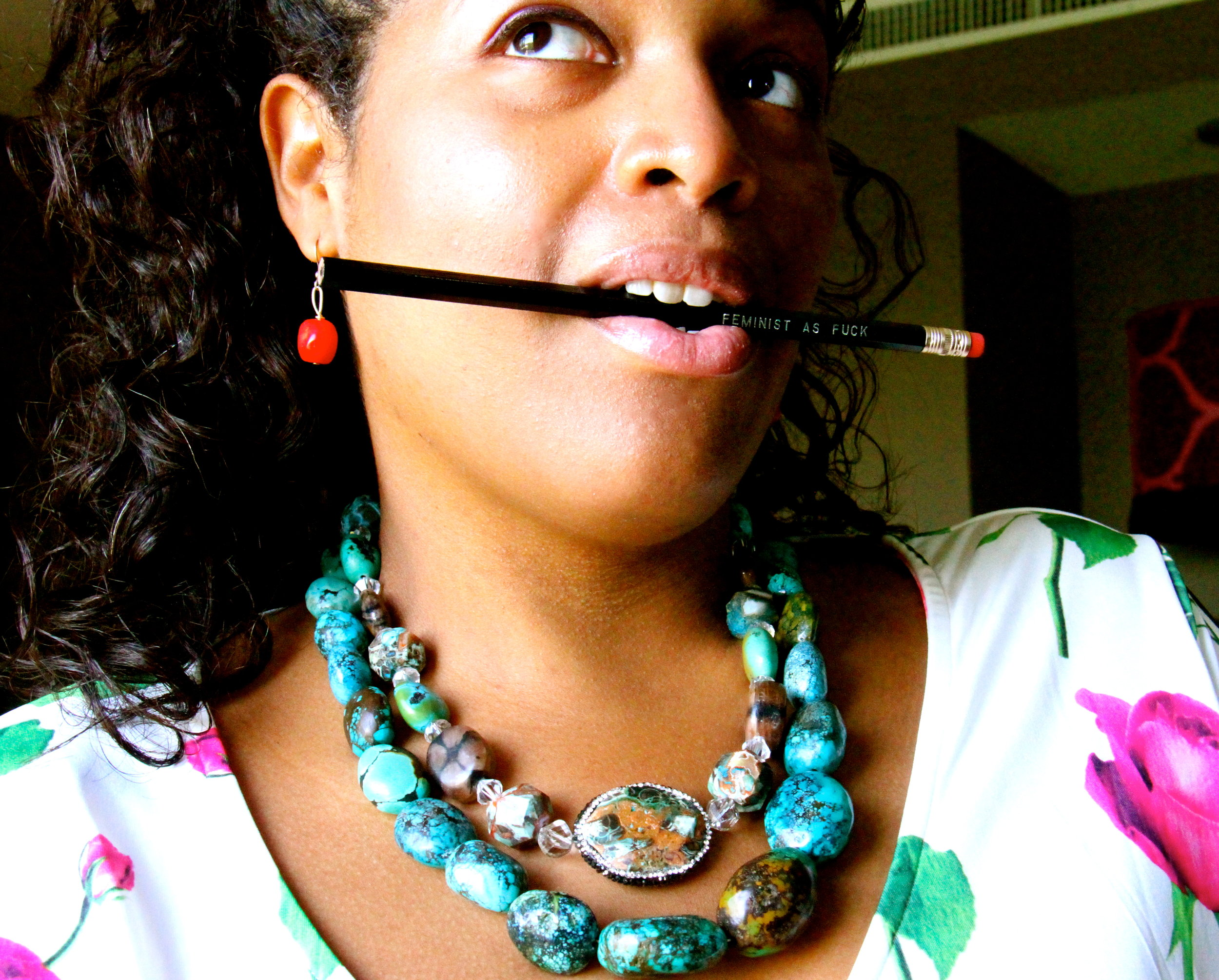 Let your accessories make a statement (like  this pencil )....
