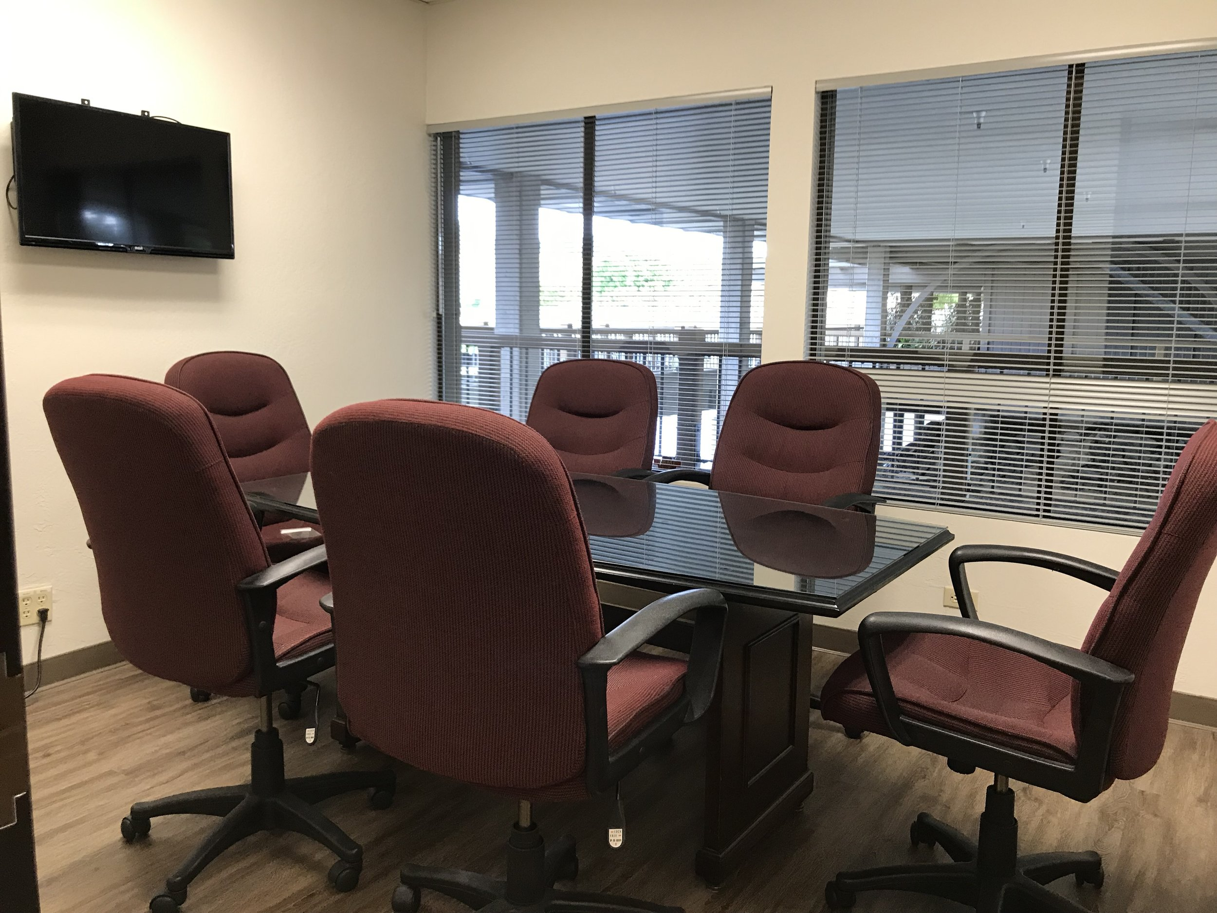 Conference Room 2 - $45/hr - Videoconferencing available.