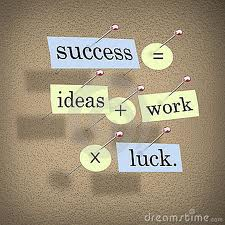 Does the formula for success involve luck?