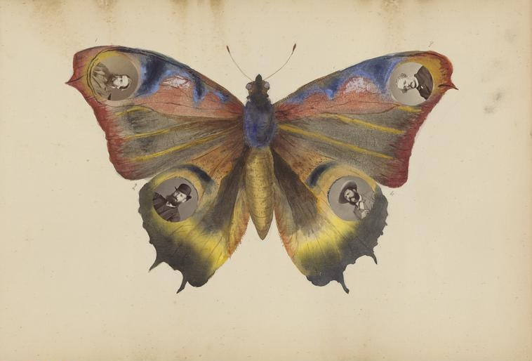 The Madame B Album, 1870s. Album of collages of watercolor, ink, and albumen prints, 11 1/2 x 16 1/2 in. (each page); 12 x 17 in. (album). The Mary and Leigh Block Endowment Fund, 2005.297.1-141.    Location:  The Art Institute of Chicago, Chicago, U.S.A.    Photo Credit:  The Art Institute of Chicago / Art Resource, NY    Image Reference:  ART528290