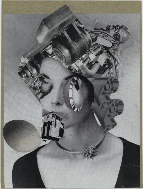 Erro (Gudmundur Gudmundsson) (1932-) © ARS, NY    Madame Picabia, 1959. Photocollage on cardboard, 31.5 x 24 cm. AM2009-221. Repro-photo: Philippe Migeat.    Location:  Musee National d'Art Moderne, Centre Georges Pompidou, Paris, France    Photo Credit:  © CNAC/MNAM/Dist. RMN-Grand Palais / Art Resource, NY    Image Reference:  ART502617