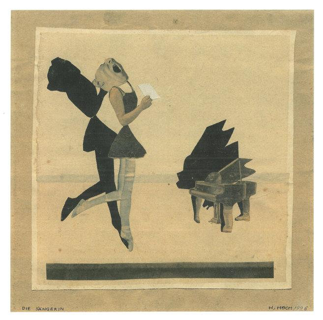 Hannah  Höch, (1889-1978) © ARS, NY    The Singer/Die Sängerin, 1926. Collage of photographic reproductions, 27.6 x 27.9 cm (10 7/8 x 11 in.). Private Collection, Courtesy Neue Galerie New York.    Location:  Neue Galerie New York, New York, NY, NY    Photo Credit:  Neue Galerie New York / Art Resource, NY    Image Reference:  ART443723