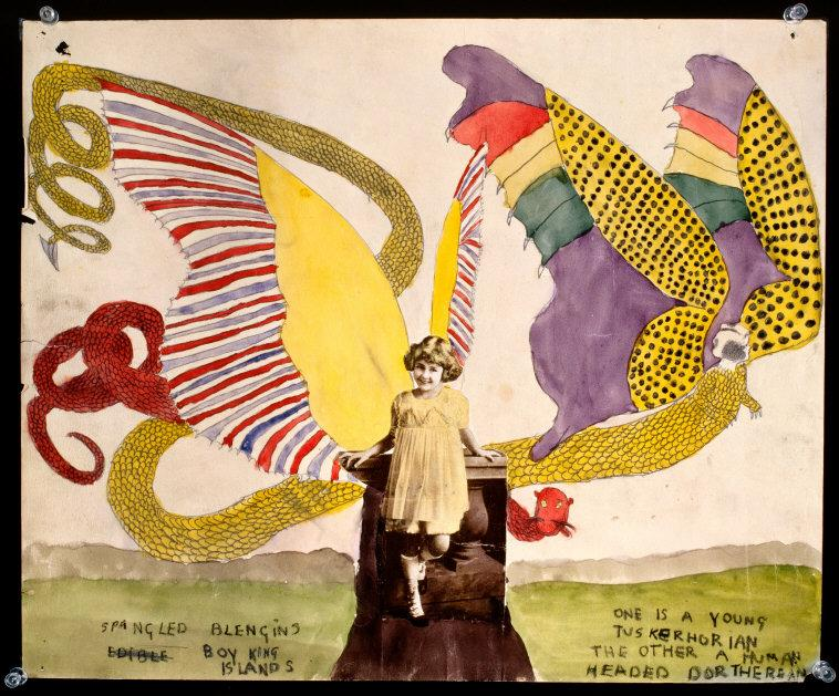 Henry  Darger,(1892-1973) © ARS, NY    Spangled Blengin/Boy King Islands . 14 x 17 in.    Photo Credit:  Photo courtesy of the Estate of Henry Darger / Art Resource, NY    Image Reference:  ART504819