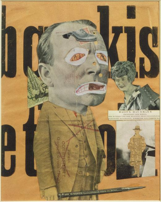 Raoul  Hausmann, (1886-1971) © ARS, NY    The Art Critic , 1919-20. Lithograph and photographic collage on paper, 31.8 x 25.4 cm.    Location:  Tate Gallery, London, Great Britain    Photo Credit:  Tate, London / Art Resource, NY    Image Reference:  ART30722