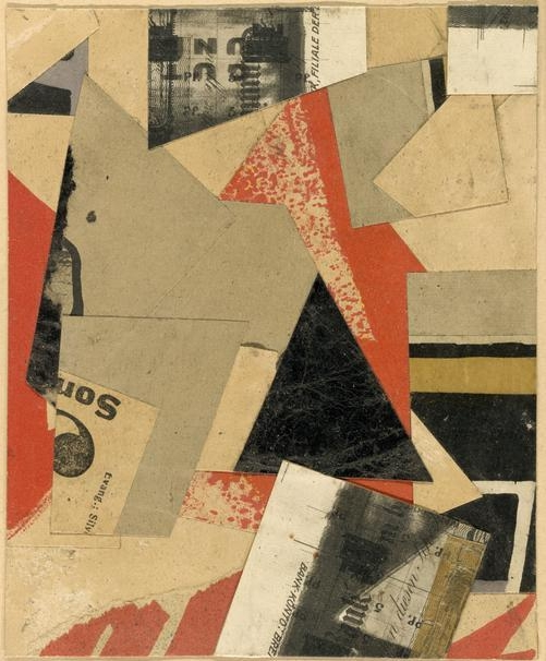 Kurt  Schwitters, (1887-1948) © ARS, NY    Merz , 1922. Collage composed of cut and pasted paper elements, with brush and red and black ink, on tan wove card, 310 x 236 mm. Gift of Dorothy Braude Edinburg to the Harry B. and Bessie K. Braude Memorial Collection, 2012.92.    Location:  The Art Institute of Chicago, Chicago, U.S.A.    Photo Credit:  The Art Institute of Chicago / Art Resource, NY    Image Reference:  ART528255