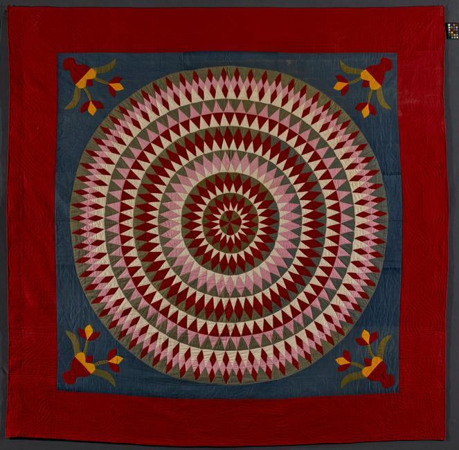 "Bull's Eye Quilt. 1900-1920. Member of the family of Alverda H. (Hoffman) Herb. Pennsylvania, United States. Cotton. 86 × 84 1/2"". Gift of Dr. Stanley and Jacqueline Schneider. 1980.31.2. Photo: Gavin Ashworth    Location:   American Folk Art Museum, New York, NY, U.S.A.    Photo Credit:   American Folk Art Museum / Art Resource, NY    Image Reference:   ART520991"