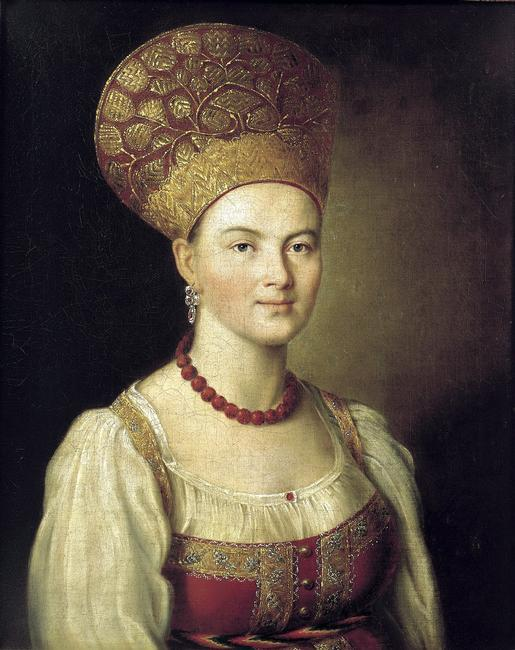 'Female portrait in Russian Dress', 1784. Found in the collection of the State Tretyakov Gallery, Moscow.    Photo Credit:   HIP / Art Resource, NY    Image Reference:   AR996242
