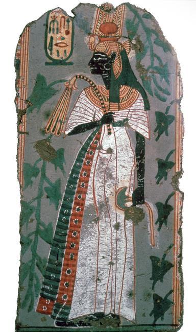 Egytian wall-painting of queen Ahmose-Nefertari, the queen of Ahmose I. Found in Thebes, 16th century BC.    Photo Credit:   HIP / Art Resource, NY    Image Reference:   AR9162525