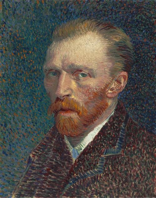 Vincent van  Gogh, (1853-1890)    Self-Portrait , 1887. Oil on artist's board, mounted on cradled panel, 41 x 32.5 cm (16 1/8 x 12 13/16 in.), Joseph Winterbotham Collection. 1954.326.    Location:  The Art Institute of Chicago, Chicago, U.S.A.    Photo Credit:  The Art Institute of Chicago / Art Resource, NY    Image Reference:  ART528315