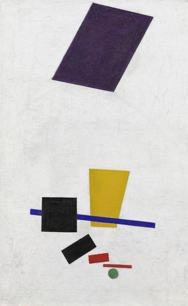 Kazimir  Malevich, (1878-1935)    Painterly Realism of a Football Player - Color Masses in the 4th Dimension , summer/fall 1915. Oil on canvas, 27 x 17 1/2 in. (71 x 44.5 cm) (original); 27 5/8 x 17 5/16 in. (70.2 x 44.1 cm) (present). Inscribed on verso (in Cyrilic) u.c.: Football Player 1915. Through prior gifts of Charles H. and Mary F. S. Worcester Collection; Mrs. Albert D. Lasker in memory of her husband, Albert D. Lasker; and Mr. and Mrs. Lewis Larned Coburn Memorial Collection, 2011.1.    Location:  The Art Institute of Chicago, Chicago, U.S.A.    Photo Credit:  The Art Institute of Chicago / Art Resource, NY    Image Reference:  ART529277