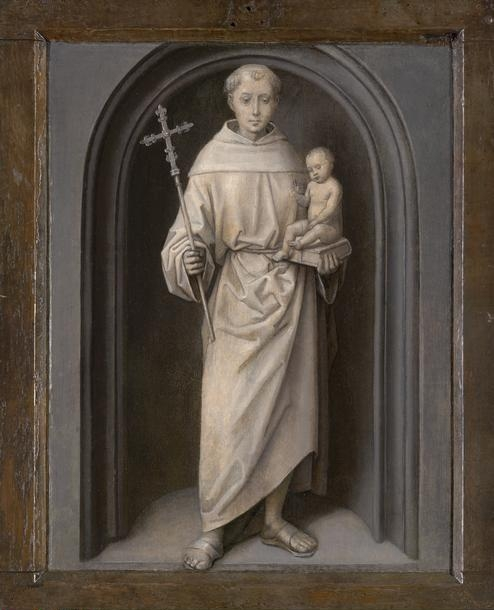 Hans  Memling, (1425/40-1494)    Saint Anthony of Padua,  1485/90. Oil on panel, Frame: 41.3 x 33.3 cm (16 1/4 x 13 1/8 in.). Gift of Arthur Sachs, 1953.467.    Location:  The Art Institute of Chicago, Chicago, U.S.A.    Photo Credit:  The Art Institute of Chicago / Art Resource, NY    Image Reference:  ART528287