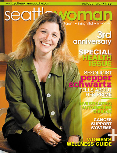 On the cover of  Seattle Woman   Magazine