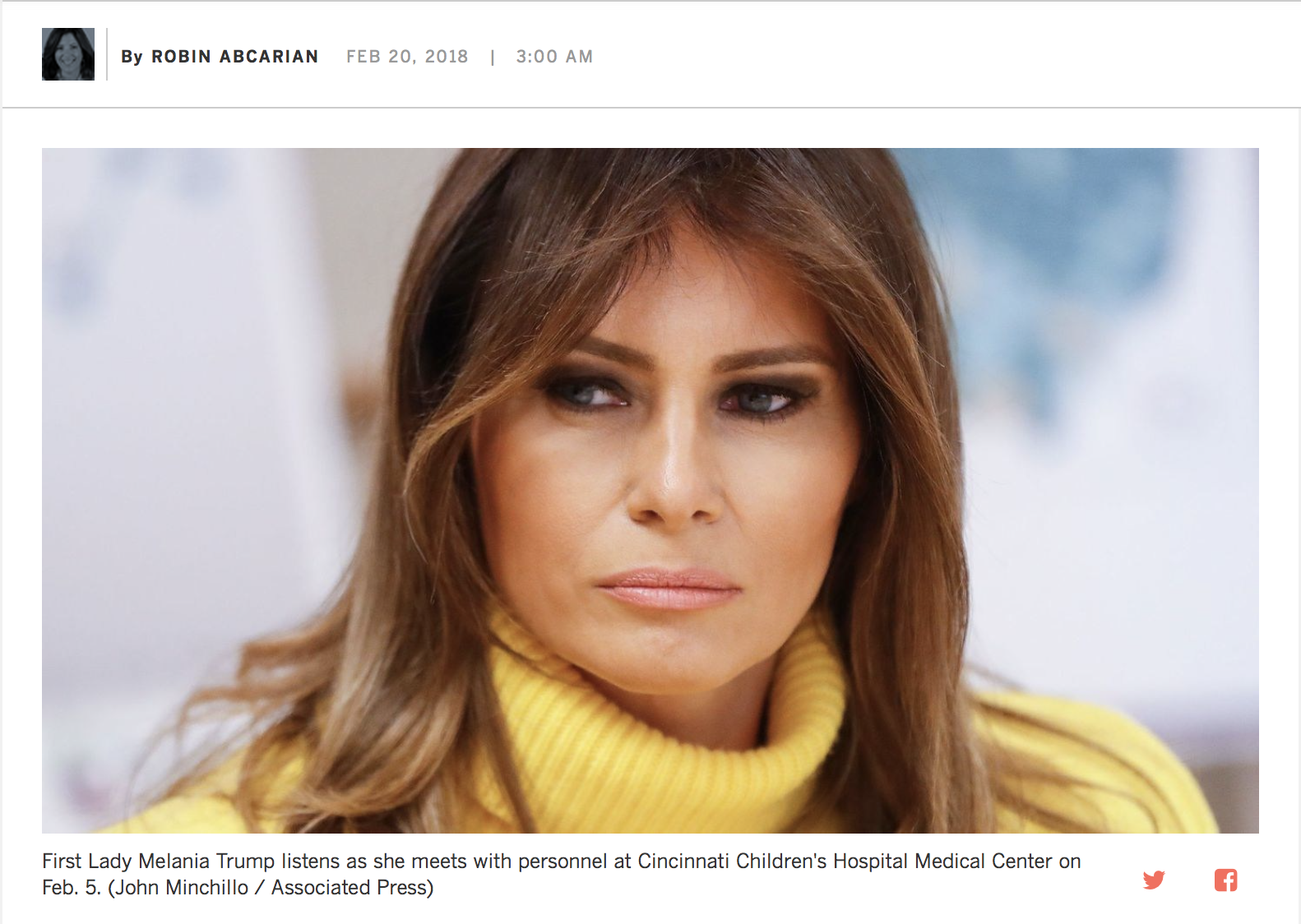 Oh, Melania...How much more humiliation can she take? -