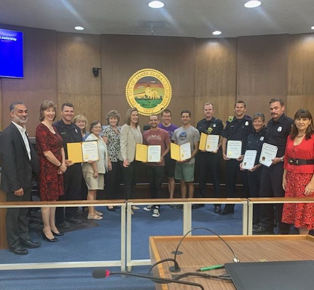 Congrats @better_togetherscfd and thank you @santaclaracity for recognizing the great work that the members of #bettertogether and @planetgranitesunnyvale do for the youth of our community. Great work all!  #firefighters #community #planetgranite #SCFF @santaclara_fd