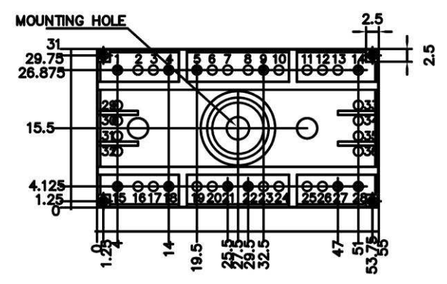 CAD drawing of the SEMITOP3 diode rectifier module as per SEMIKRON datasheet