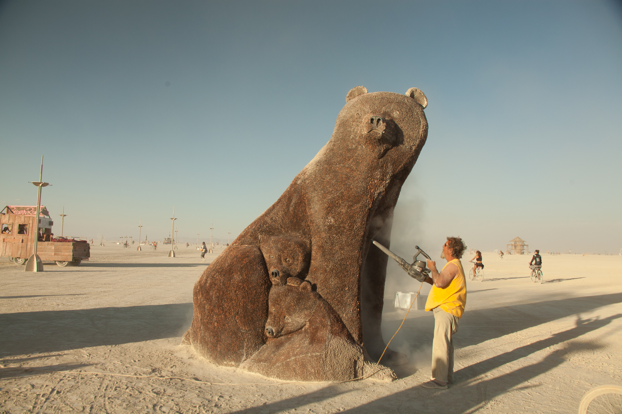 Daily Maintenance at Burning Man