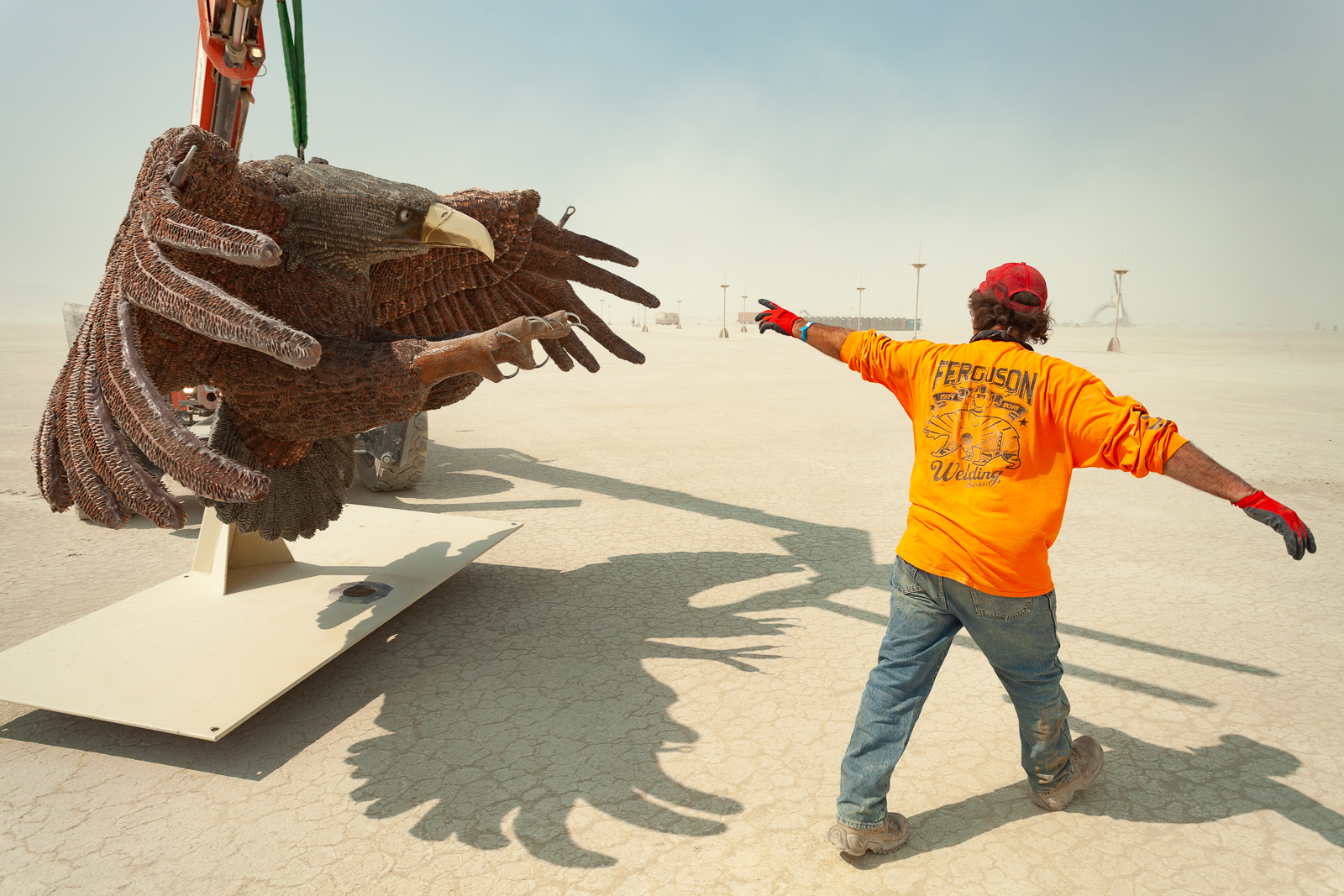 Loading onto Playa for Burning Man