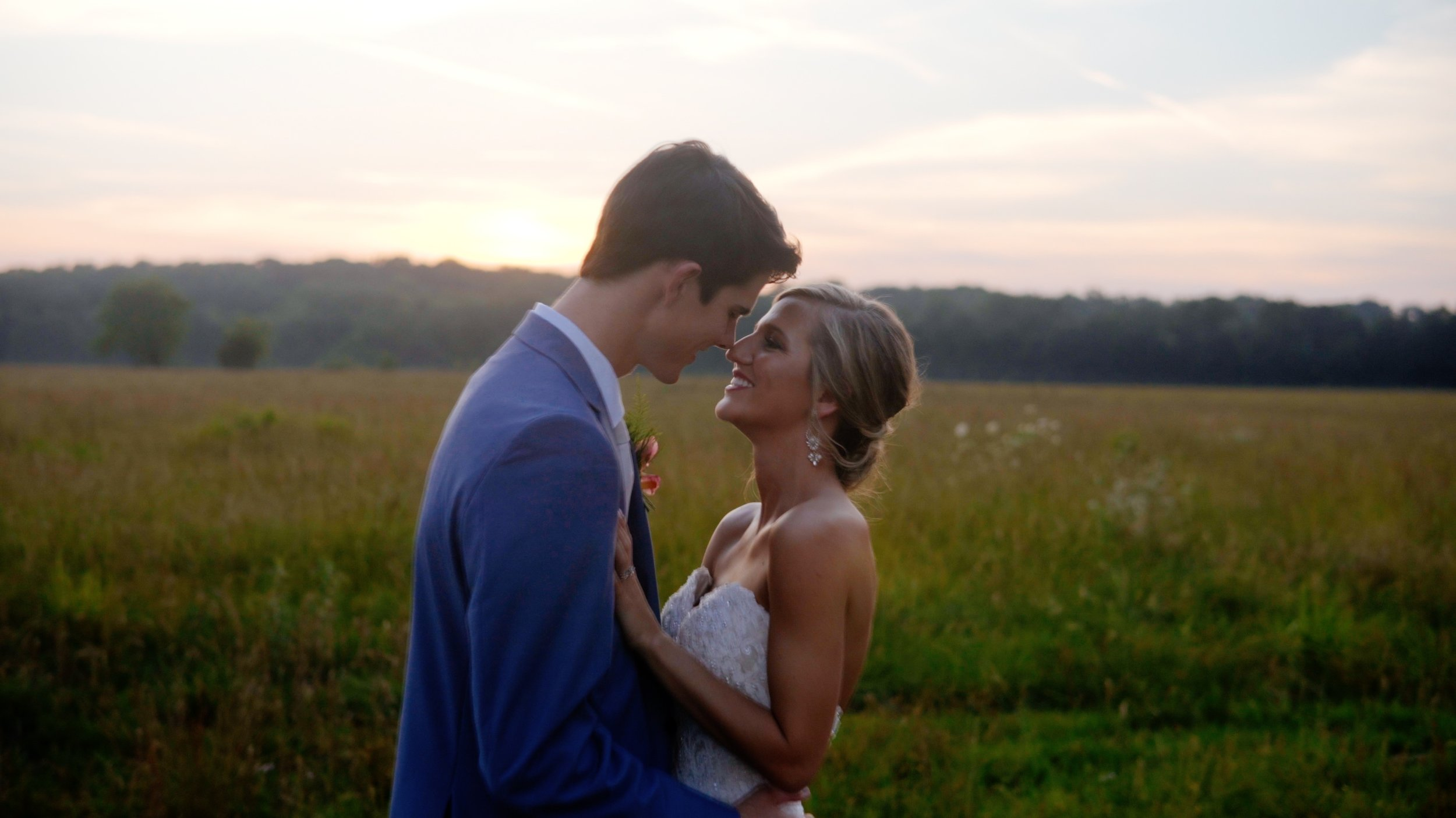 Delaney and Andrew, in a beautiful sunset shot, my goodness..