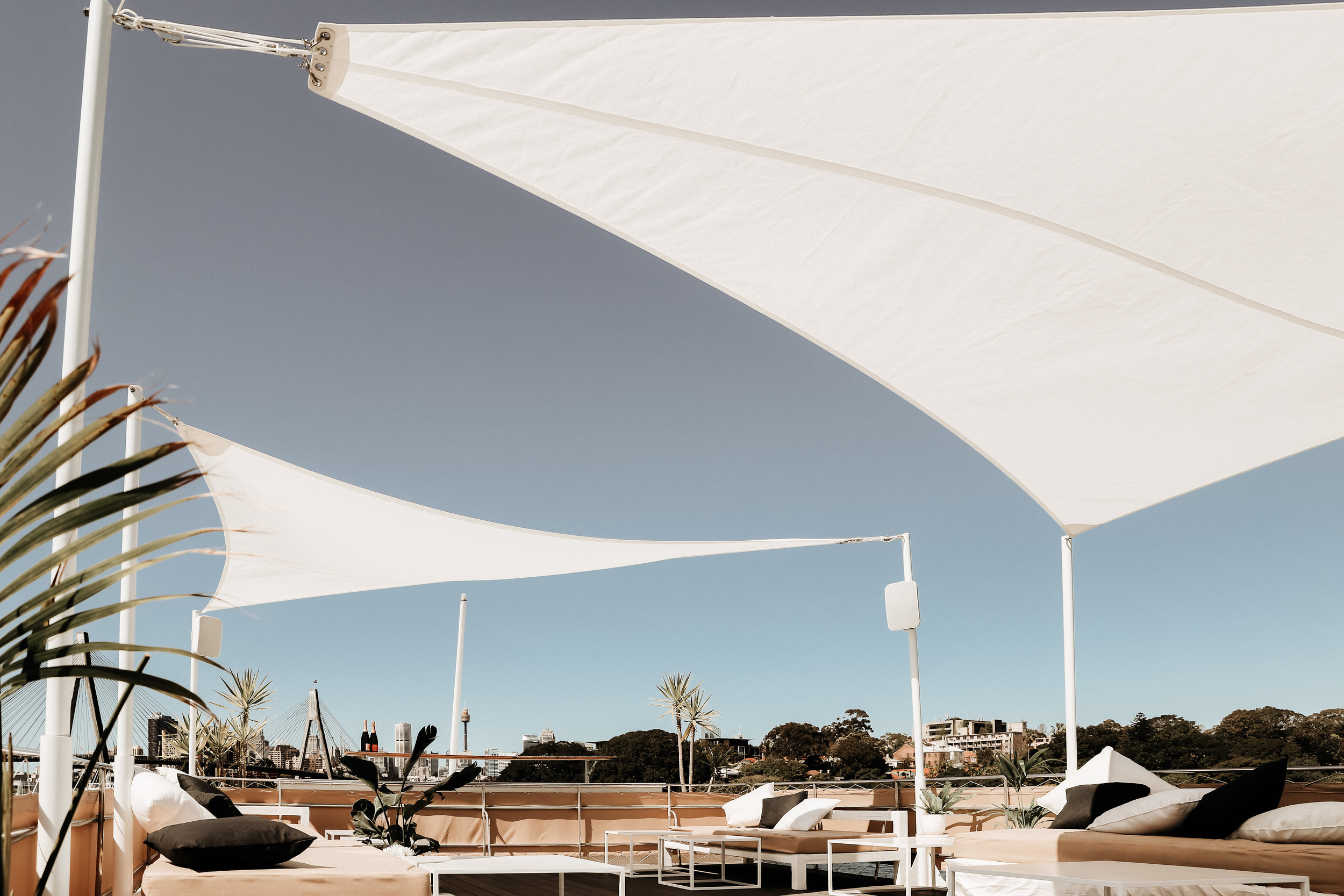 Hamptons Sydney sun deck events yacht party cocktail bar boat hire corporate events sydney harbour .jpg