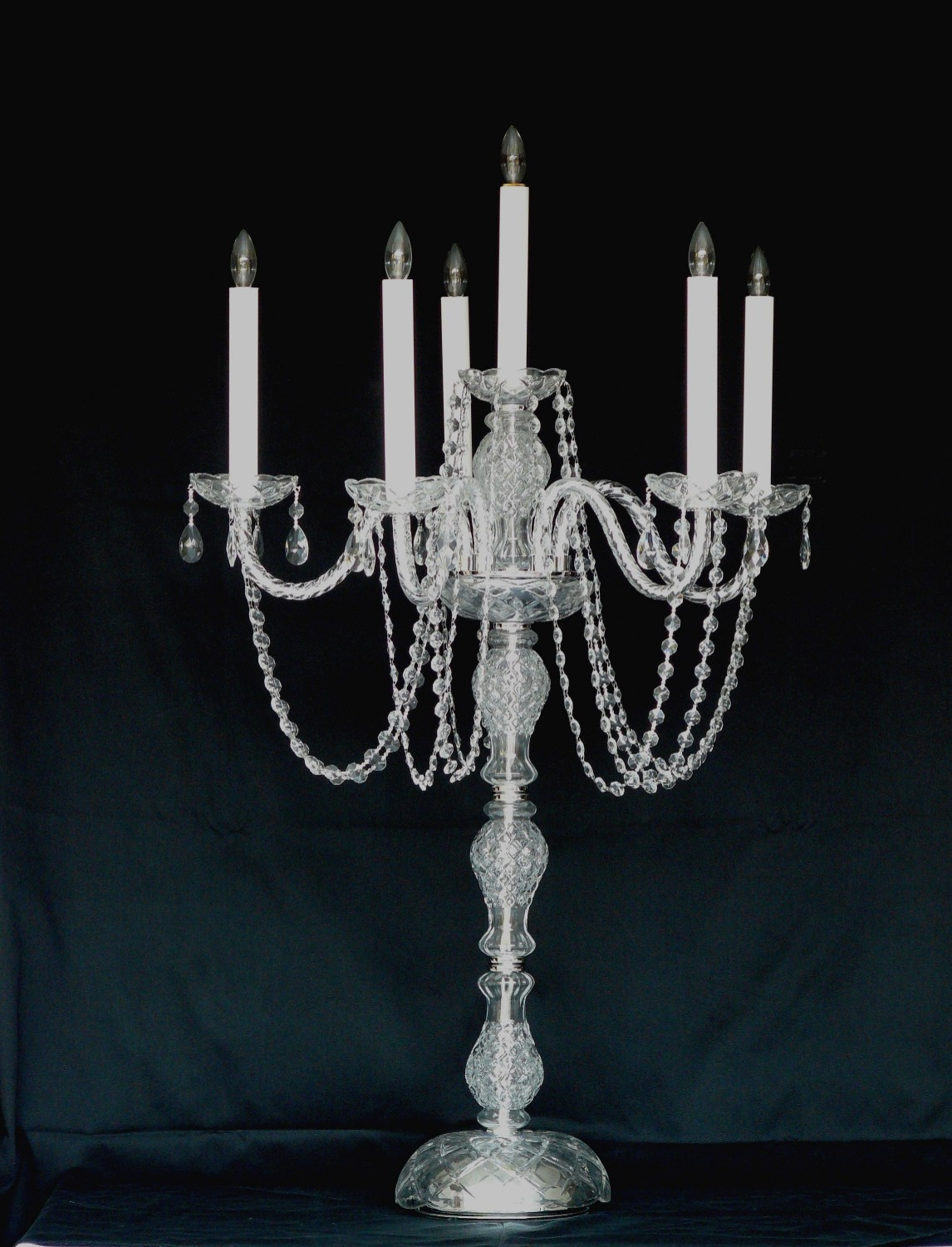 Crystal Glass Candelabra - 40""