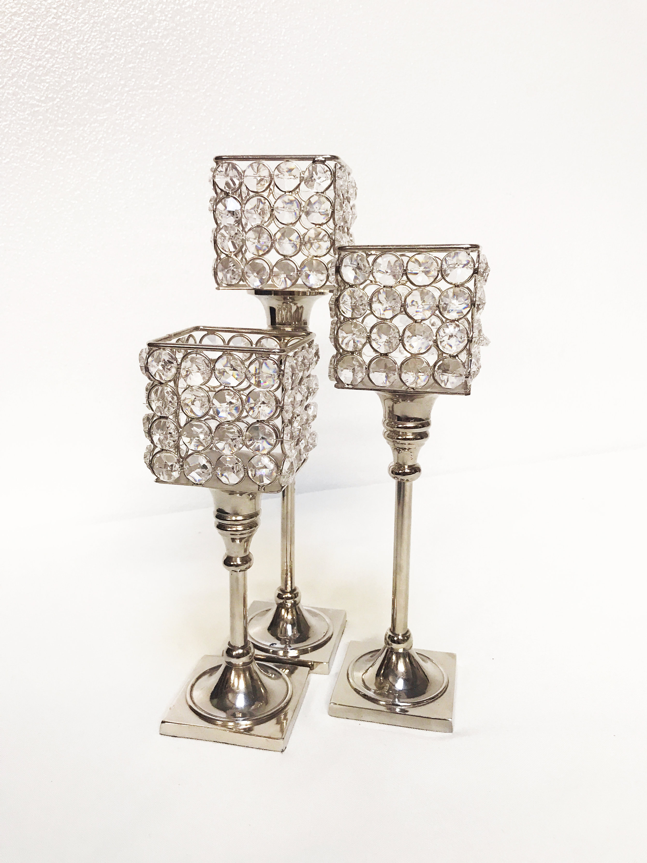 Crystal Square Candle Stand