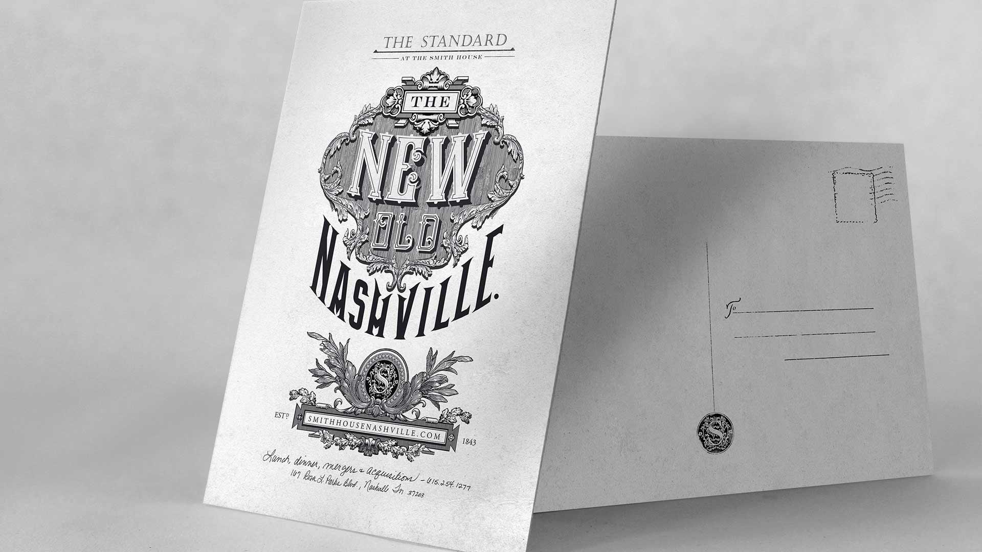 "bohan | The Standard direct mail postcard ""The New Old Nashville"""