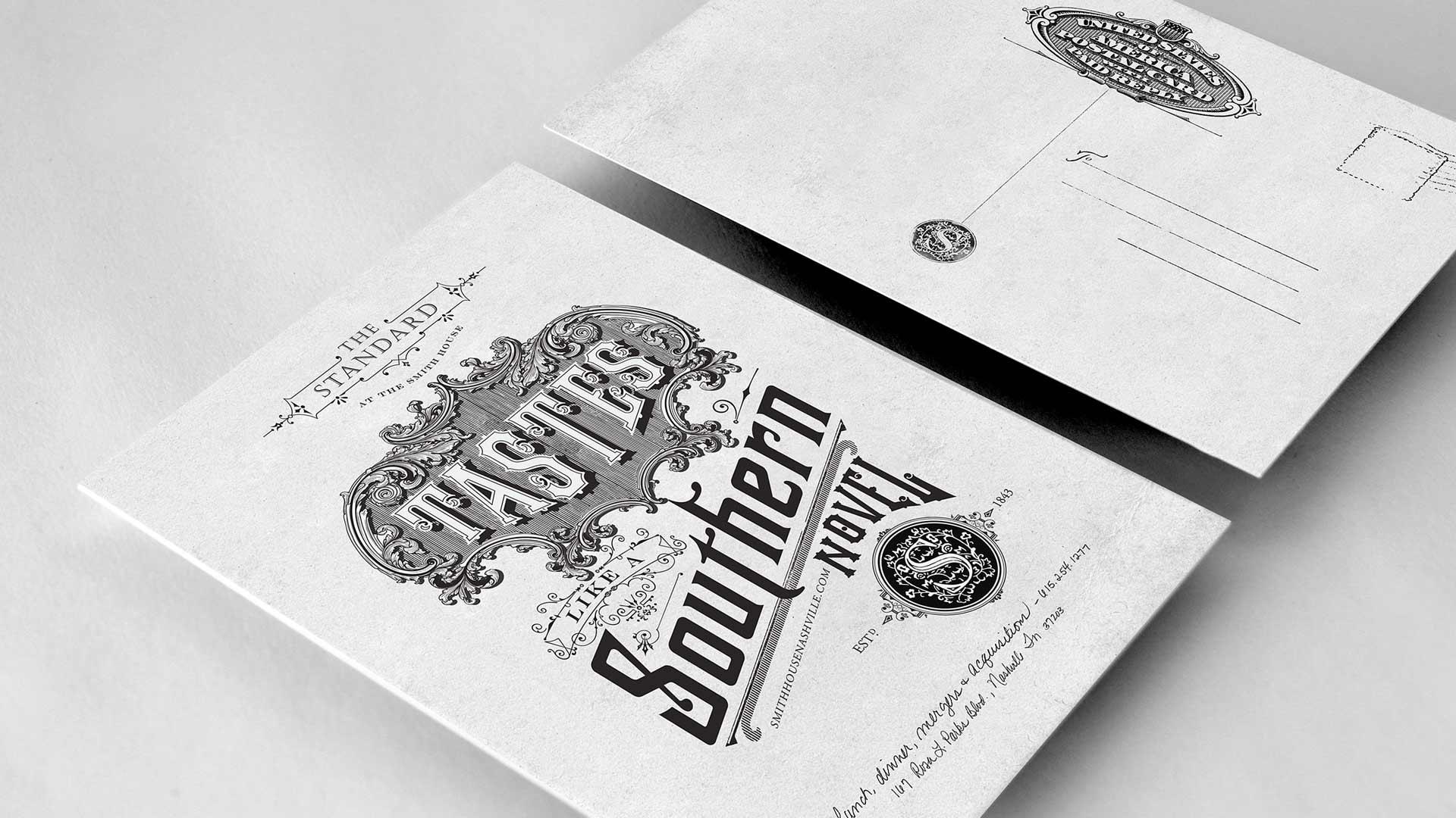 "bohan | The Standard direct mail postcard ""Tastes like a Southern Novel"""