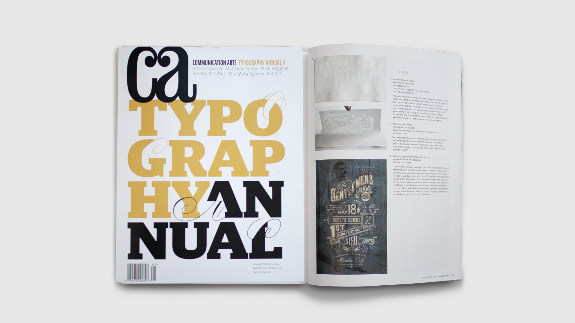 bohan | The Standard feature in Communication Arts Typography Annual