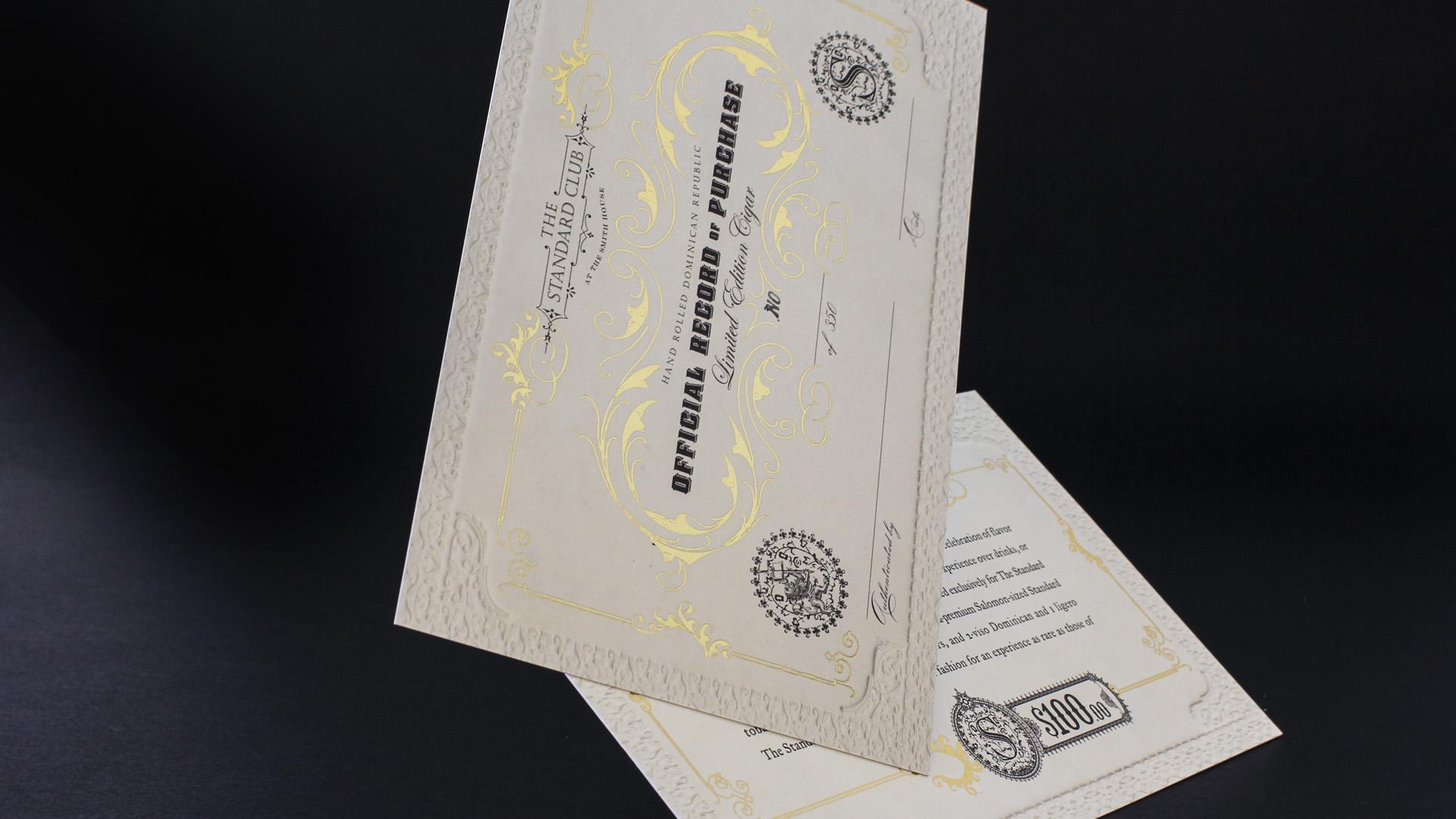 bohan | The Standard certificate