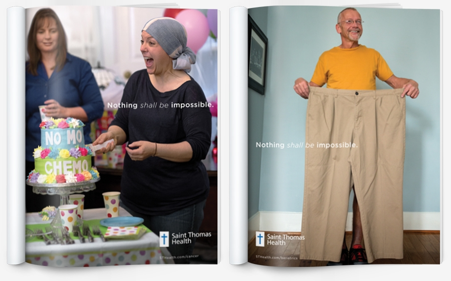"bohan | Saint Thomas ""No More Chemo"" and ""Bariatrics"" magazine ads - Nothing shall be impossible"
