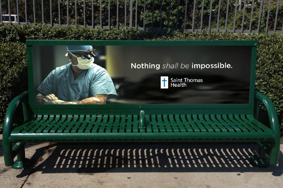 bohan | Saint Thomas Bus Bench - Nothing shall be impossible