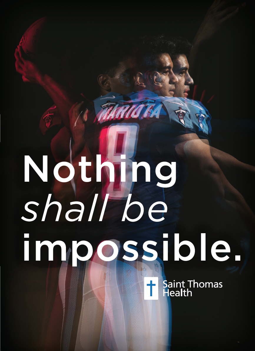 bohan | Saint Thomas Marcus Mariota Stadium Sign - Nothing shall be impossible