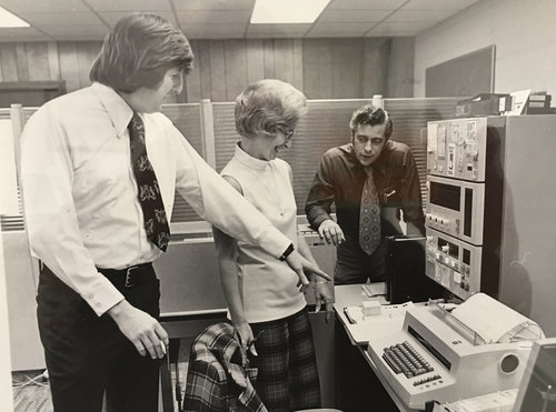 First IBM computer at the Capel offices