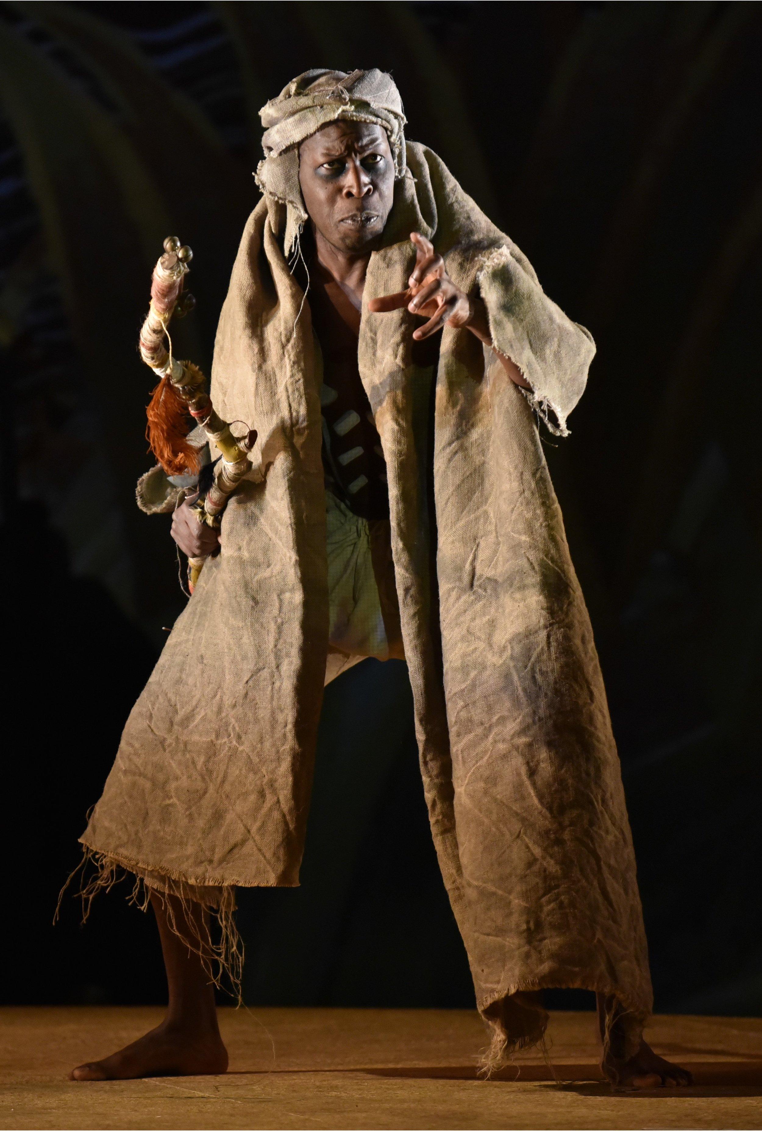 Hervé Goffings as  Caliban.