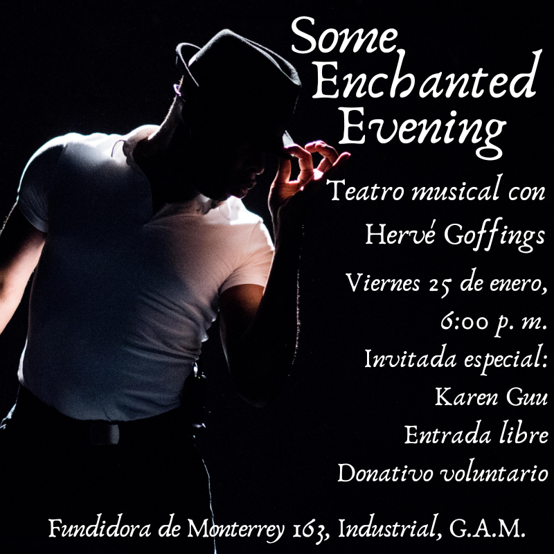 JANUARY  I was extremely elated to give my first concert of the year in  Mexico City,  singing musical theatre songs from The Lion King, Show Boat, South Pacific, Crazy For You, The Wiz…etc.