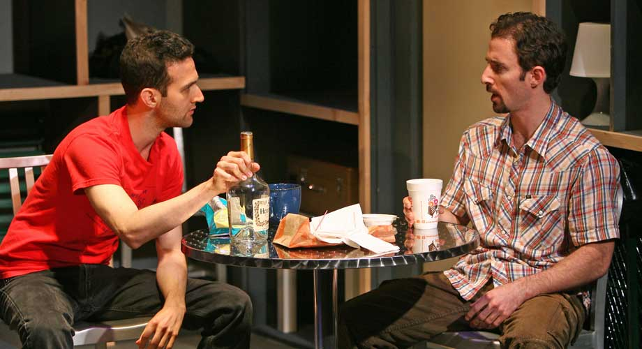 David Ross and J.J. Kandel in DEEP IN THE HOLE. Photo by Carol Rosegg. Summer Shorts 2008.