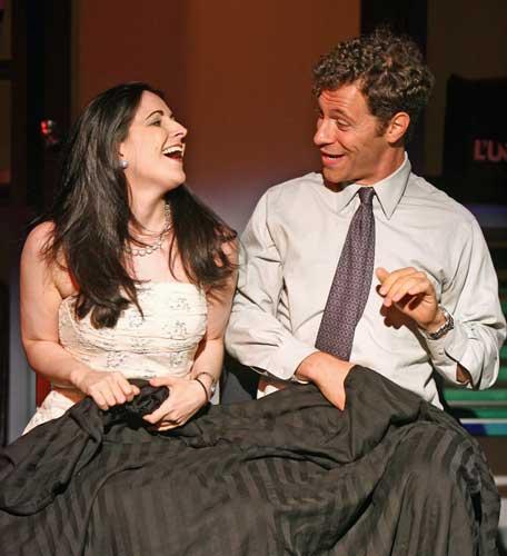 Stephanie D'Abruzzo and Jonathan C. Kaplan in PLAISIR D'AMOUR. Photo by Carol Rosegg. Summer Shorts 2008.