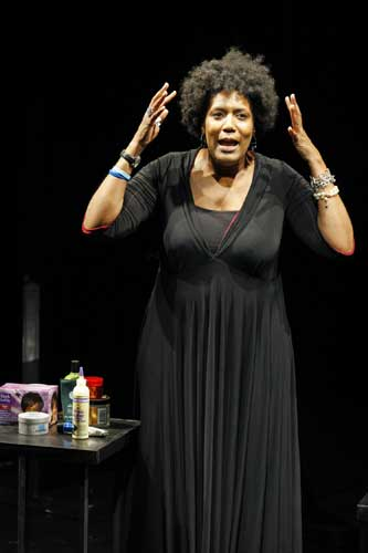 Nancy Giles in THINGS MY AFRO TAUGHT ME. Photo by Carol Rosegg. Summer Shorts 2009.