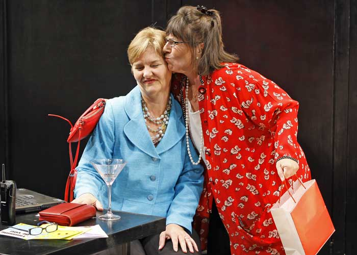 Sherry Anderson and Mary Joy in DEATH BY CHOCOLATE. Photo by Carol Rosegg. Summer Shorts 2009.